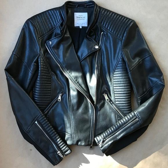 d28b413e Zara Jackets & Coats   Trafaluc Outerwear Faux Leather Jacket   Poshmark